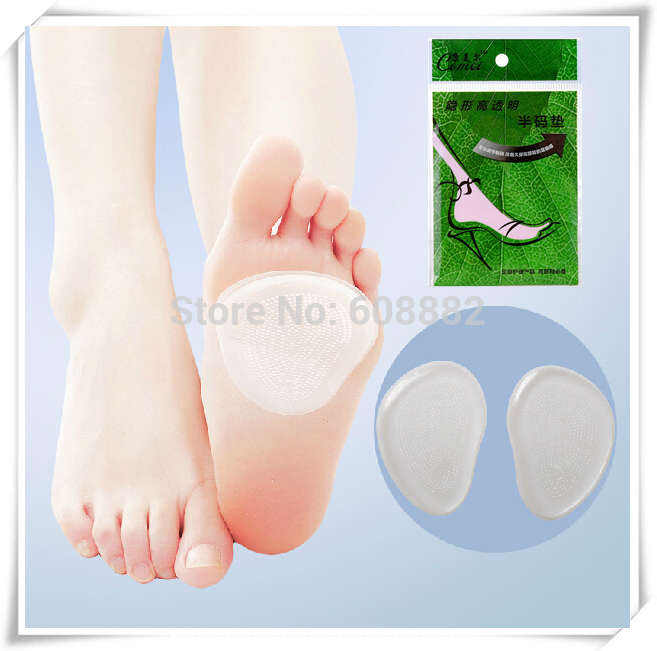 2pcs/pair feet care women high stiletto heel protector Transparent silicone insole relieve pain high heels protector