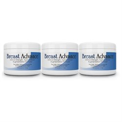 Best Breast Augmentation Cream: BREAST ADVANCE (3 Jars) Bust Enlargement Enlarging Enhancement