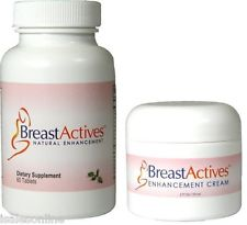 Breast Actives All Natural Breast Enhancement Capsules & Cream Combo Kit