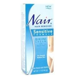 Nair Hair Remover, Sensitive Formula, Bikini Cream With Green Tea, 1.7 fl oz