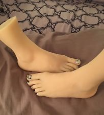 NEW GIRLS WOMENS DANCER FEET SILICONE MANNEQUIN FOOT MODEL WOMENS SIZE 8