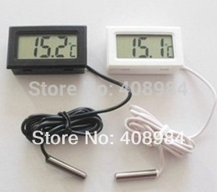 Thermometer Fridge Digital LCD Probe Freezer Thermograph for Refrigerator 110C ( Black / White ) 14% off