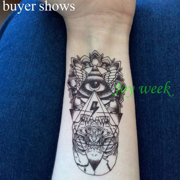 Waterproof Temporary Tattoo Sticker eye of God totem tattoo body art Water Transfer fake tattoo flash tattoos for girl women men