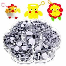 700pcs Round Self-adhesive Wiggly Googly Eyes for Doll Toy Craft DIY Making