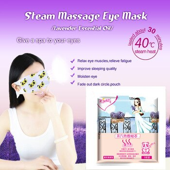 Brand Lavender Essential Oil Eye Steam Mask 12.5*13*10 CM Sleeping Vapour Mask for Reduce Dark Circles/Anti-puffiness