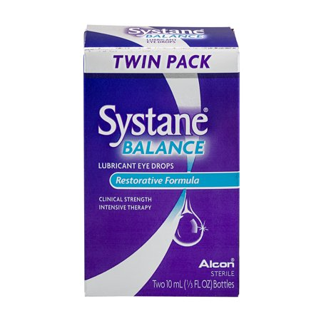 Systane Balance Lubricant Eye Drops Restorative Formula Twin Pack - 2 CT
