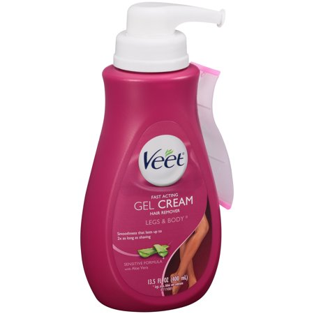 Veet Gel Hair Remover Cream, Sensitive Formula, 13.5 Ounce