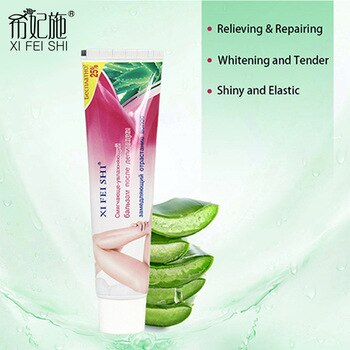 XIFEISHI New Hot Sale Natural Aloe Essence Depilation Repair Cream Foe Women After Hair Removal Cream For Beauty Treatment KF009