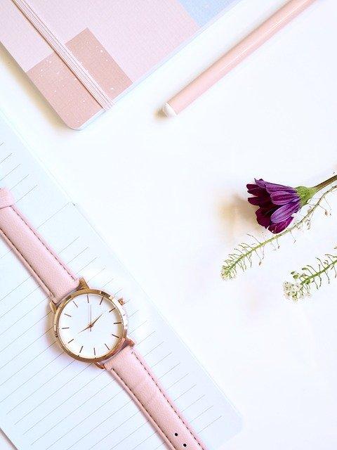 write, white space, flatlay