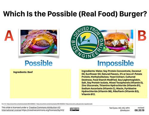 artificialmeat glucoseregulation impossibleburger... (Photo: tedeytan on Flickr)
