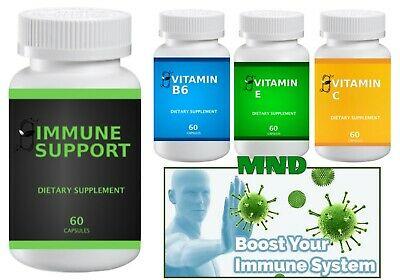 4 Immune System Hack Boost Your Immunity Vitamin C E B6 Support Supplement Pills