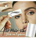 4D Hair-like Eyebrow Tattoo Sticker False Eyebrows Waterproof Lasting Makeup-US