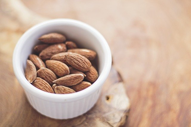 almonds, food, nuts