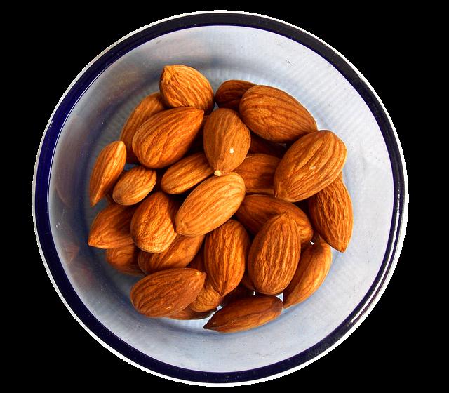 almonds, oil, nutrition