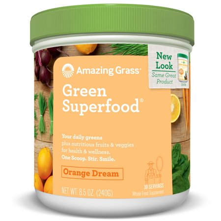 Amazing Grass Green SuperFood Powder, Orange Dream, 8.5 Oz