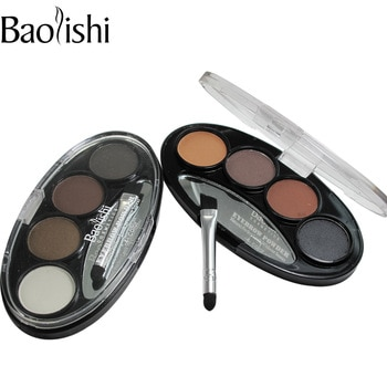 Clearance 4 Color Natural Long-lasting Waterproof Eyebrow Power Brown Black Eyes Shaper Cosmetic Makeup Tool