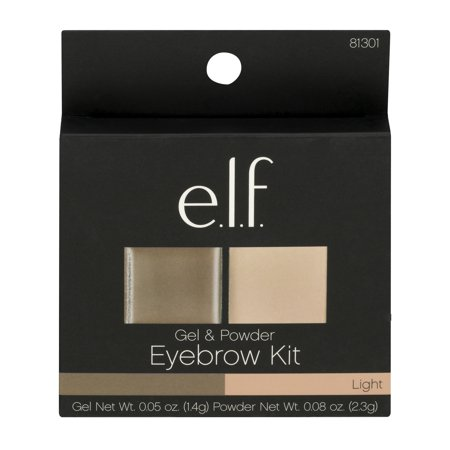 e.l.f. Gel & Powder Eyebrow Kit Light, 0.13 OZ
