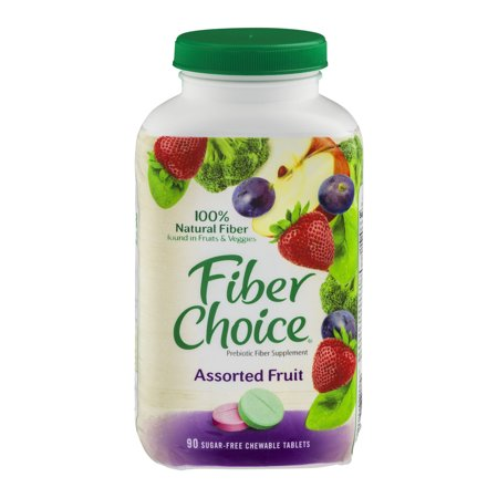 Fiber Choice Prebiotic Fiber Supplement Sugar-Free Chewable Tablets Assorted Fruit - 90 CT