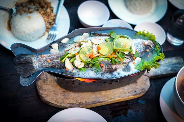 fish, food, thai