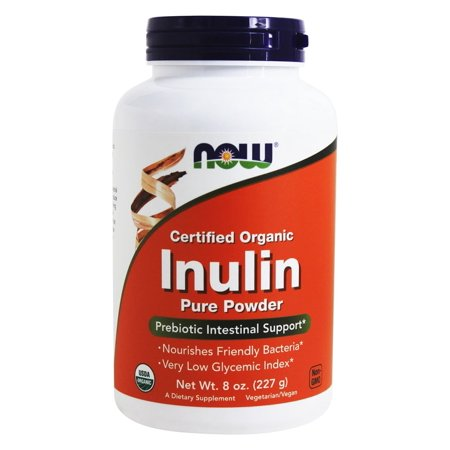 NOW Foods Inulin Prebiotic Fos Powder Now Foods 8 Ounce