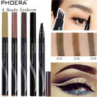 PHOERA 4 Tip Head Eyebrow Tattoo Fork Pen Microblading Brow Enhancer Waterproof